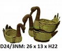Лебеди ротанговые набор 3в1 маленький   D24/3NM
