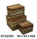 Короб с крышкой набор 3в1 D713/3N