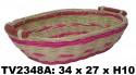 Поднос из ротанга (бело-розовый) TV2348A-B