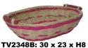 Поднос из ротанга (бело-розовый) TV2348B-B