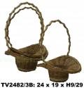 Корзинка ротанговая (коричневый) 3 в 1 TV2482/3B-N