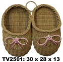 Тапочки  на стенку TV2501-N (коричнево- розовый)