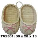 Тапочки  на стенку TV2501-T(бело-розовый)