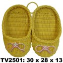 Тапочки  на стенку TV2501-V (жёлто-розовый)