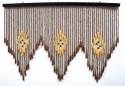 Шторы деревянные 90*60см 60 нитей TV3008-2