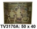 Панно бамбук с рисунком баня 50*40 см  TV3170A-7