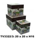 Шкатулка набор 3 в 1 TV3322/3-1