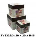 Шкатулка набор 3 в 1 TV3322/3-4