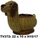 Собака плетеная TV372-T